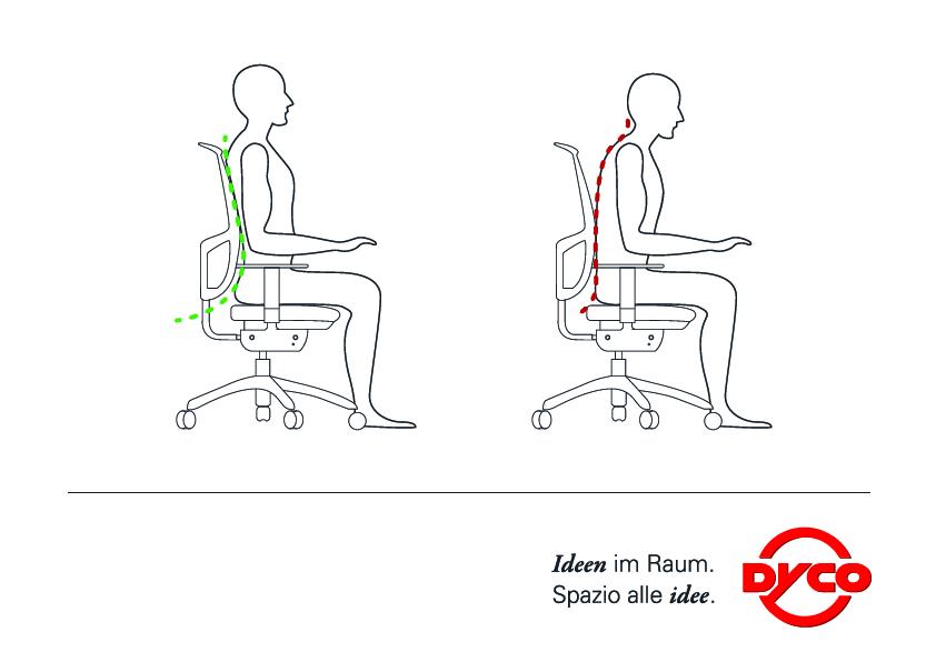 La corretta postura da tenere al computer