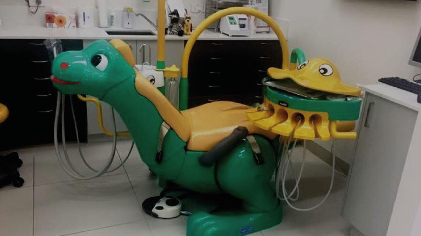 Zahnarztpraxis-Design einmal anders. Oder fünfmal…