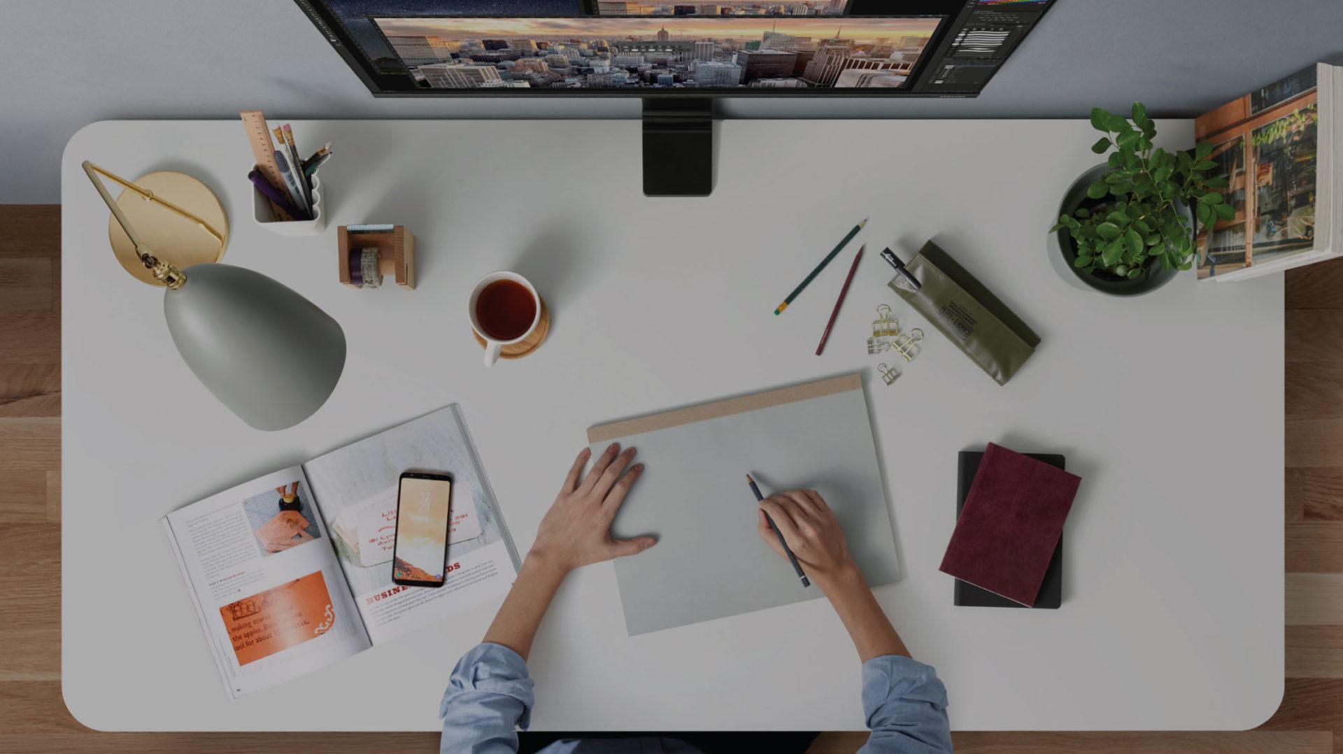 Kleiner Bereich, große Wirkung: Wie sieht eine optimale Schreibtischplatte aus?